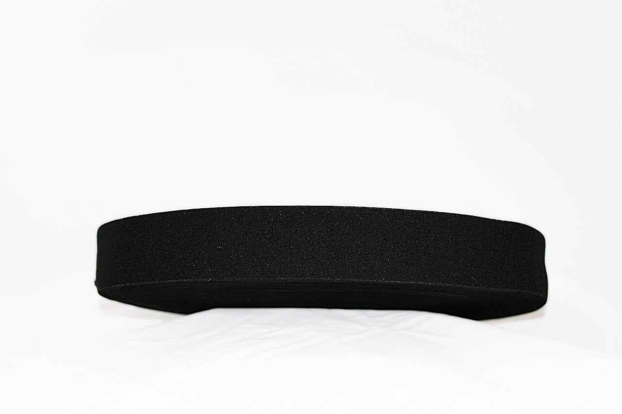 Black 40mm wide Exposed Elastic - $5.00 per metre
