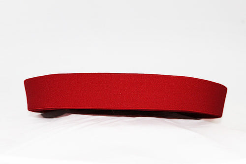 Red 40mm wide Exposed Elastic - $5.00 per metre