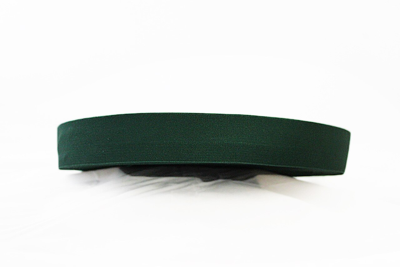 Dark Green 40mm wide Exposed Elastic - $5.00 per metre