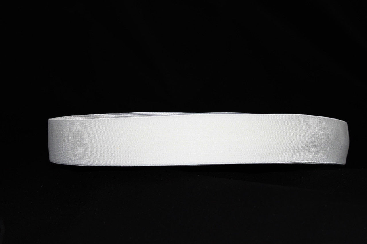 White 40mm wide Exposed Elastic - $5.00 per metre