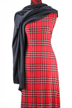 Load image into Gallery viewer, Tartan in Red - $17.50 Per Metre - single brushed poly