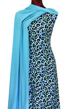 Load image into Gallery viewer, Leopard in Blue - $17.50 pm - Double Brushed Poly