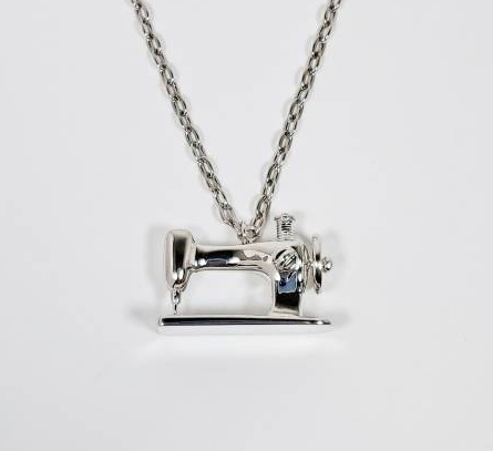 Sewing Machine Necklace - Silver