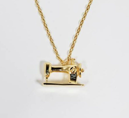 Sewing Machine Necklace - Gold