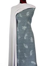Load image into Gallery viewer, Maple in Blue - Cotton Spandex - $19.00 per metre