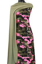 Load image into Gallery viewer, Camo in Neon Pink - $17.50 pm - Double Brushed Poly