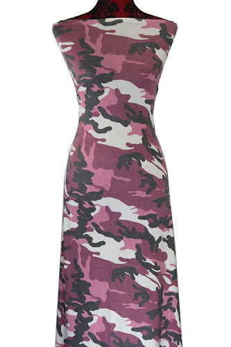 Camo in Pink - $17.50 pm - Poly Rayon Spandex