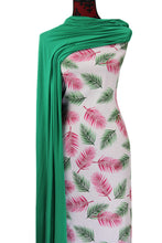 Load image into Gallery viewer, Pink Fronds - $16.50 PM - Rayon Challis