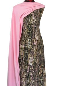 Pink Python - $17.50 pm - Double Brushed Poly