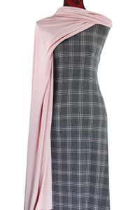 Pink and Grey Plaid - $17.50 pm - Poly Rayon Spandex