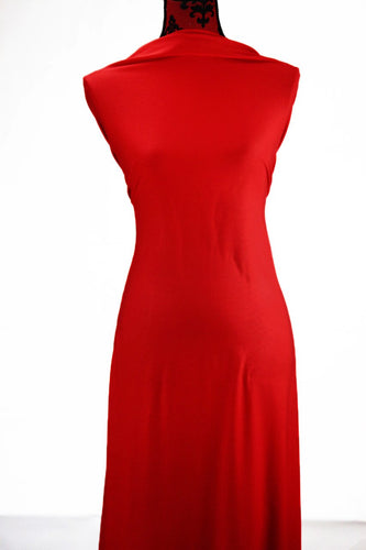 Poppy Red  - $17.50 pm - Rayon Spandex
