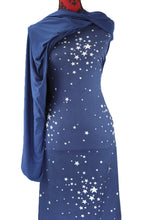 Load image into Gallery viewer, Reach for the Stars in Dark Blue -  $17.50 pm - Double Brushed Poly