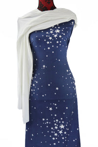 Reach for the Stars in Dark Blue -  $17.50 pm - Double Brushed Poly