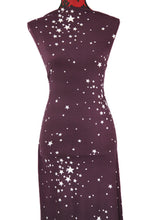 Load image into Gallery viewer, Reach for the Stars in Plum -  $17.50 pm - Double Brushed Poly