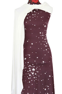 Reach for the Stars in Plum -  $17.50 pm - Double Brushed Poly