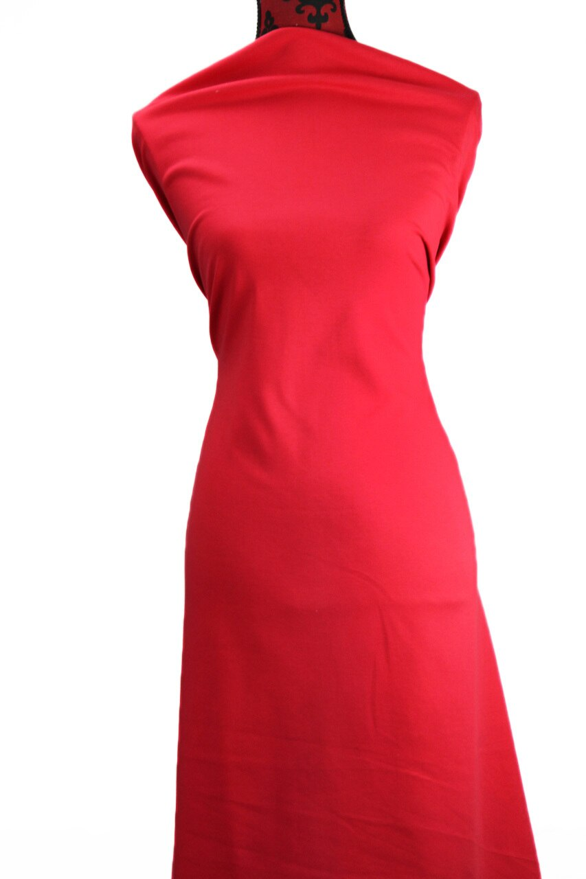 Red 250 gsm Cotton Spandex - $19.00 per metre