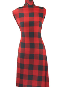Red Buffalo Plaid -  $19.00 per metre - Hachi Sweater Knit