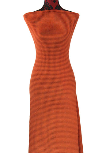 Orange Oversized Waffle Knit - $20.00 per metre