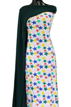 Load image into Gallery viewer, Starlight Starbright in White - $19.00 per metre - Cotton Spandex