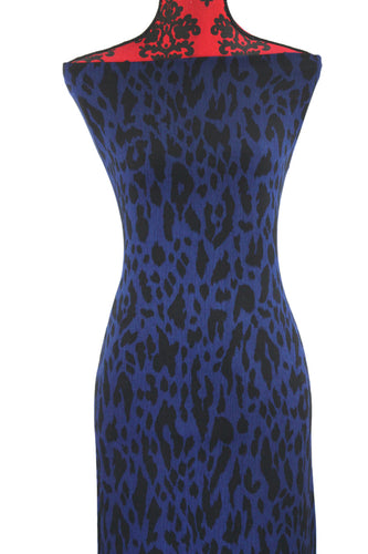 Sultry Sapphire - $17.00 - Rayon Challis - Wrinkle Effect