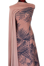 Load image into Gallery viewer, Tropical Woods in Pink - Cotton Spandex - $19.00 per metre