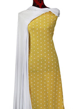 Load image into Gallery viewer, Yellow Crosses 100% Cotton (Knit) - $18.50 per metre