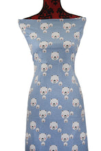 Load image into Gallery viewer, Blue Teddy Bears - $17.50 PM - Brushed 100% Cotton Woven