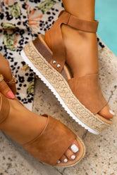 Annika Platform Wedge Tan