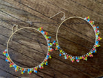 Solar bead circle earring