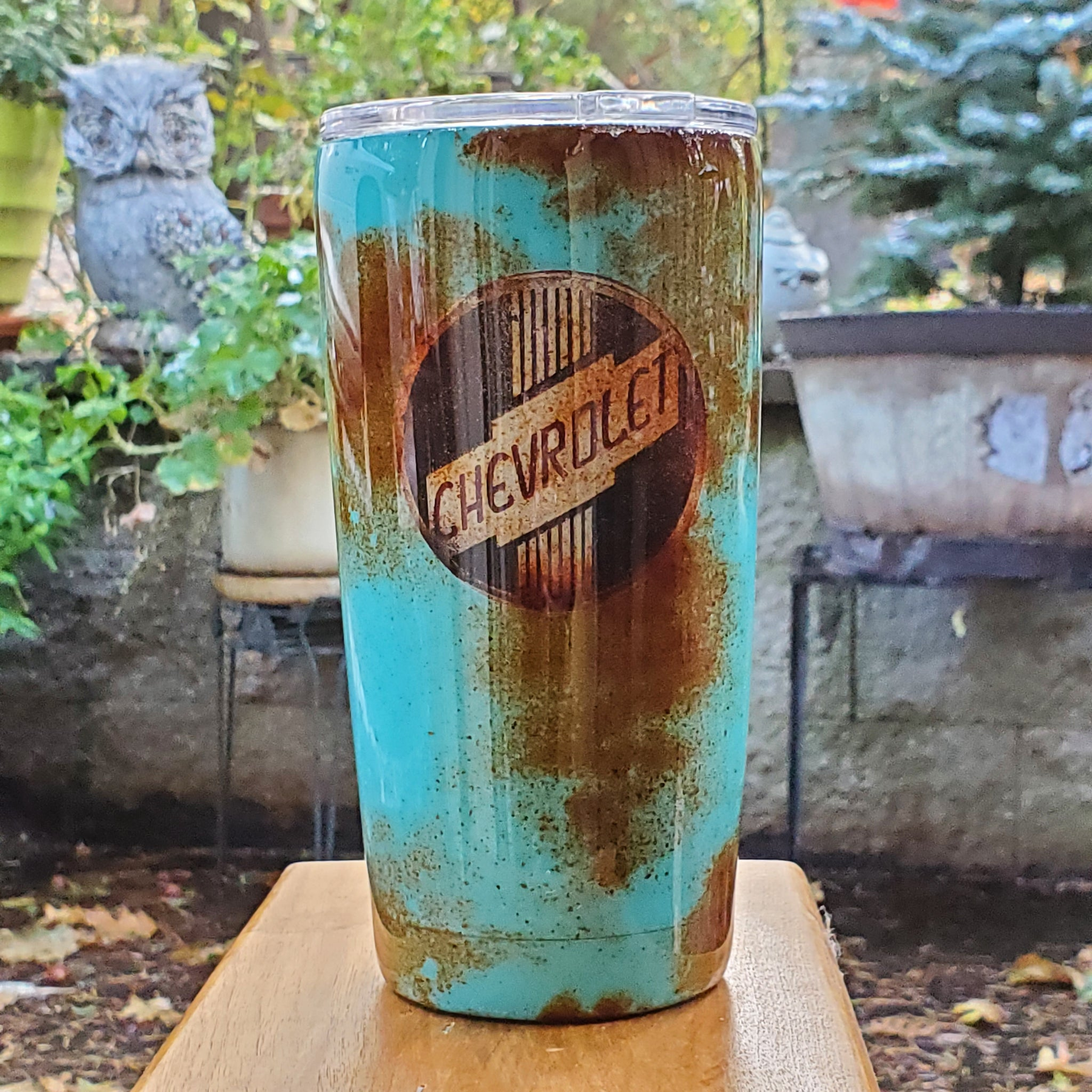 Rusted Chevy Tumber | Custom Tumbler | Custom Tumbler for Men | Epoxy Travel Mug