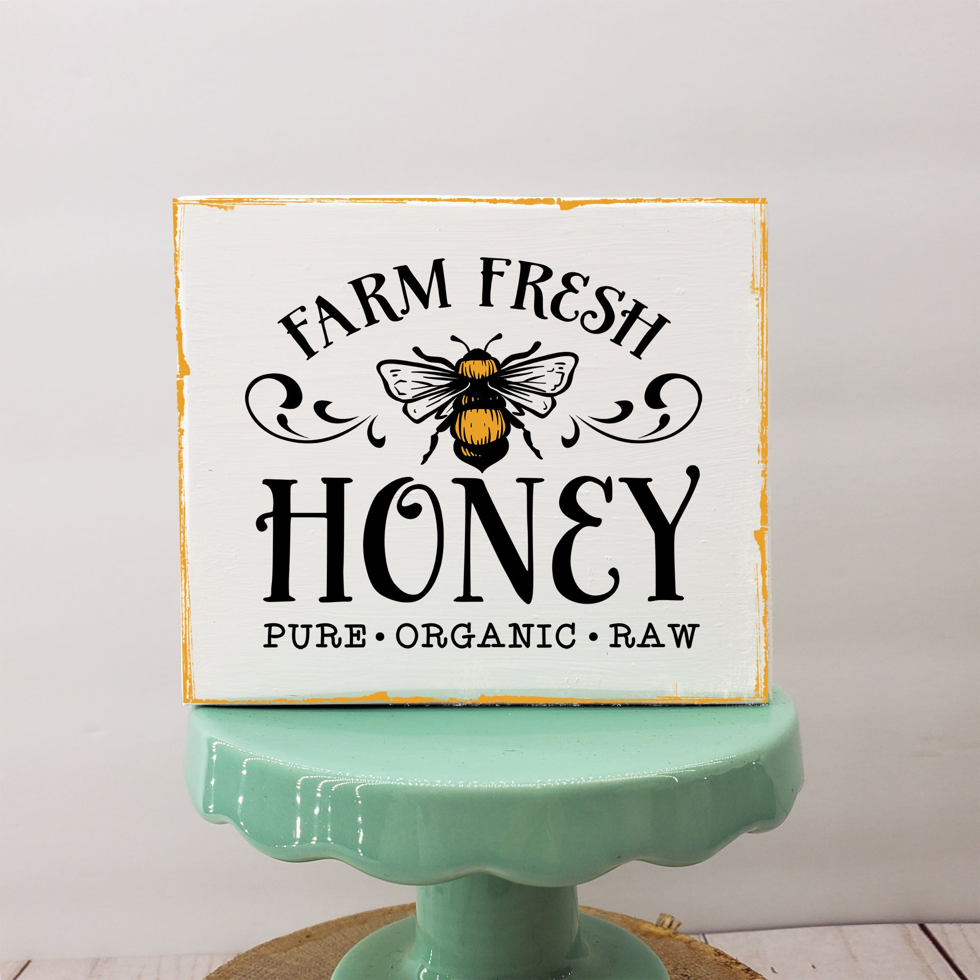 Farm Fresh Honey 3.5x3  Mini Sign | Tiered Tray Sign | Farmhouse Decor