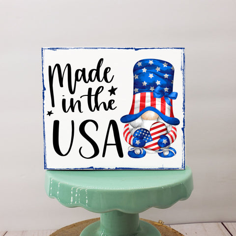 Made in the USA 4x3.5 Mini Sign | Tiered Tray Sign | Farmhouse Decor