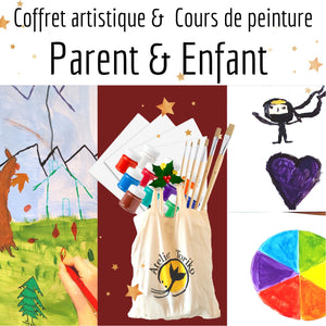 Paquet Cadeau - Peinture Parent & Enfant - Gift pack - Painting Parent & Child-Noël-Atelier Toriko