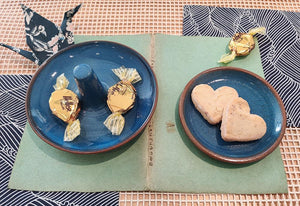 Little blue plates by Isabelle