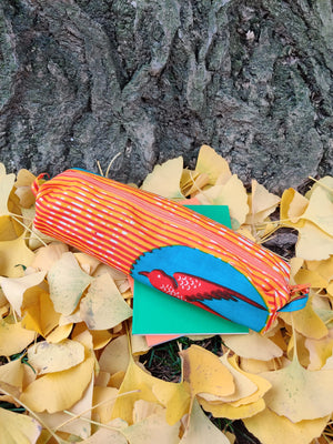 Handmade birdie pencil case-Accessories-Atelier Toriko