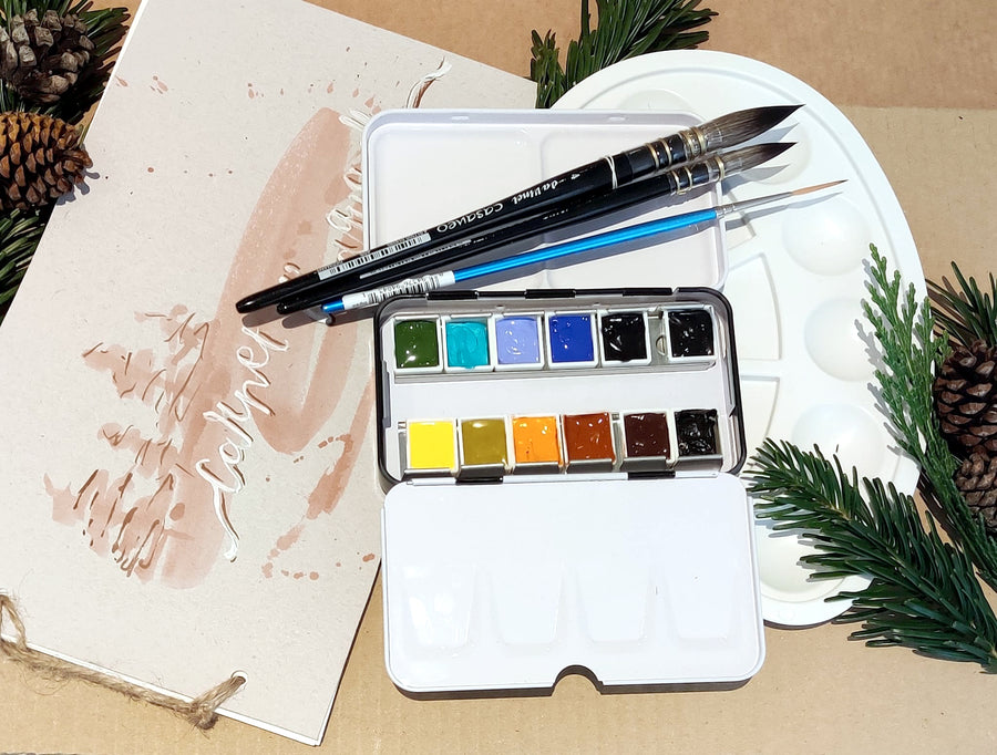 Gift pack -  Watercolor set and class