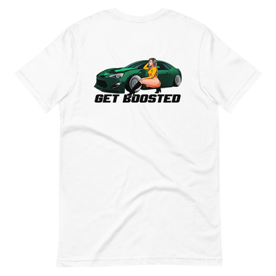 ThatBoostedChick White Get Boosted Tee