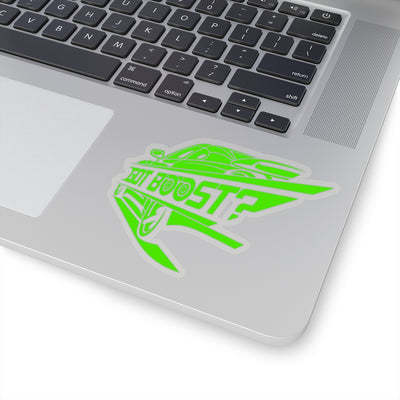 Green Car Sticker