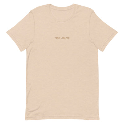 Jenna Lee 'Team Lexapro' Nude Embroidered Tee