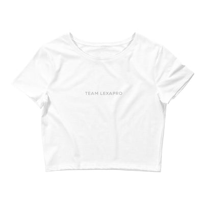 Jenna Lee 'Team Lexapro' White Crop Top