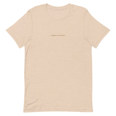 Jenna Lee 'Anxiety Is My Bitch' Nude Embroidered Tee