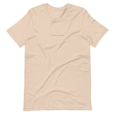 Jenna Lee 'It's Not You, It's My Anxiety' Nude Embroidered Tee