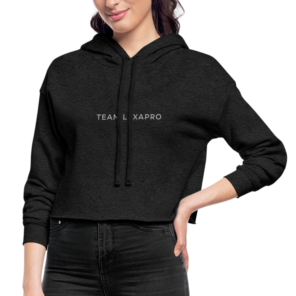 Jenna Lee 'Team Lexapro' Grey Crop Hoodie - deep heather