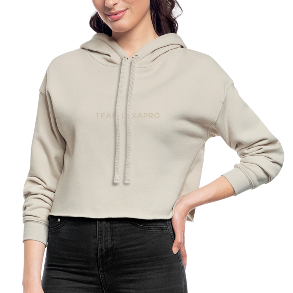 Jenna Lee 'Team Lexapro' Nude Crop Hoodie - dust
