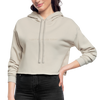 Jenna Lee 'I Left My House Today' Nude Crop Hoodie - dust