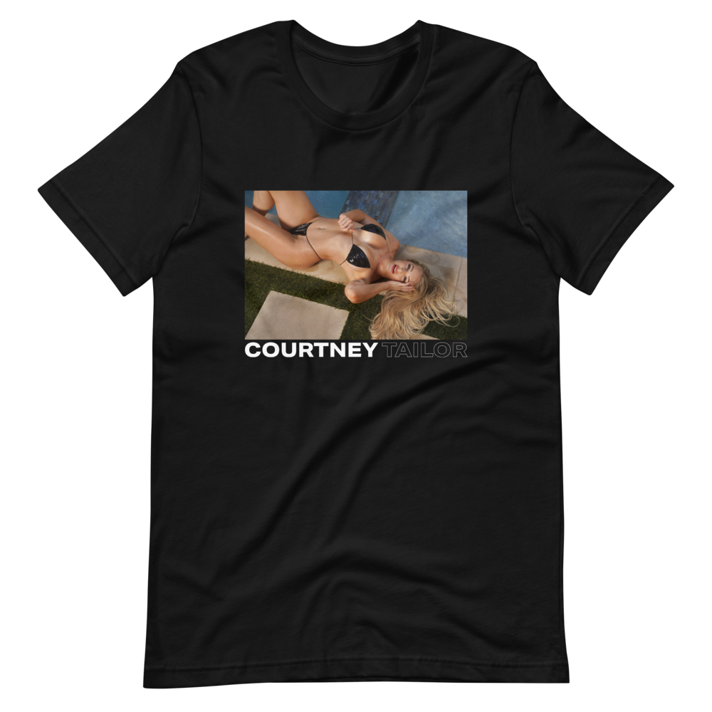Courtney Tailor Pool Black Tee