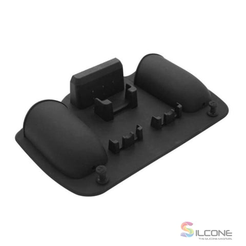 2-Hole Silicone Toothbrush Holder Black