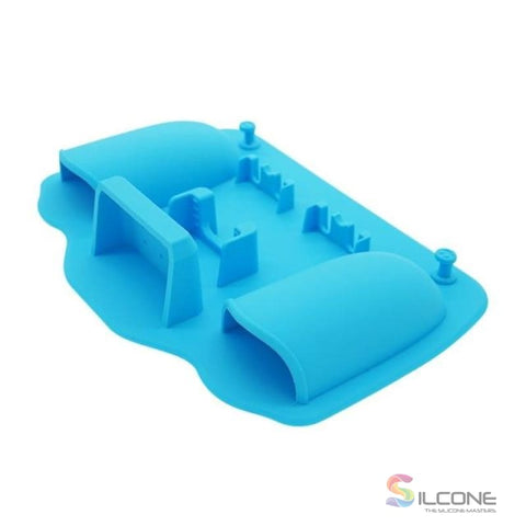 2-Hole Silicone Toothbrush Holder Blue