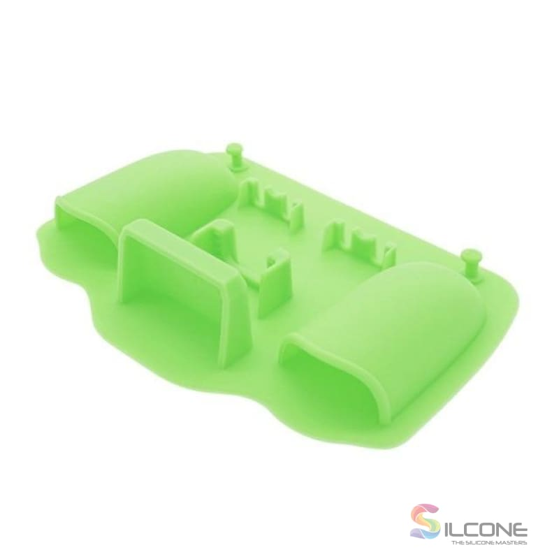 2-Hole Silicone Toothbrush Holder Green
