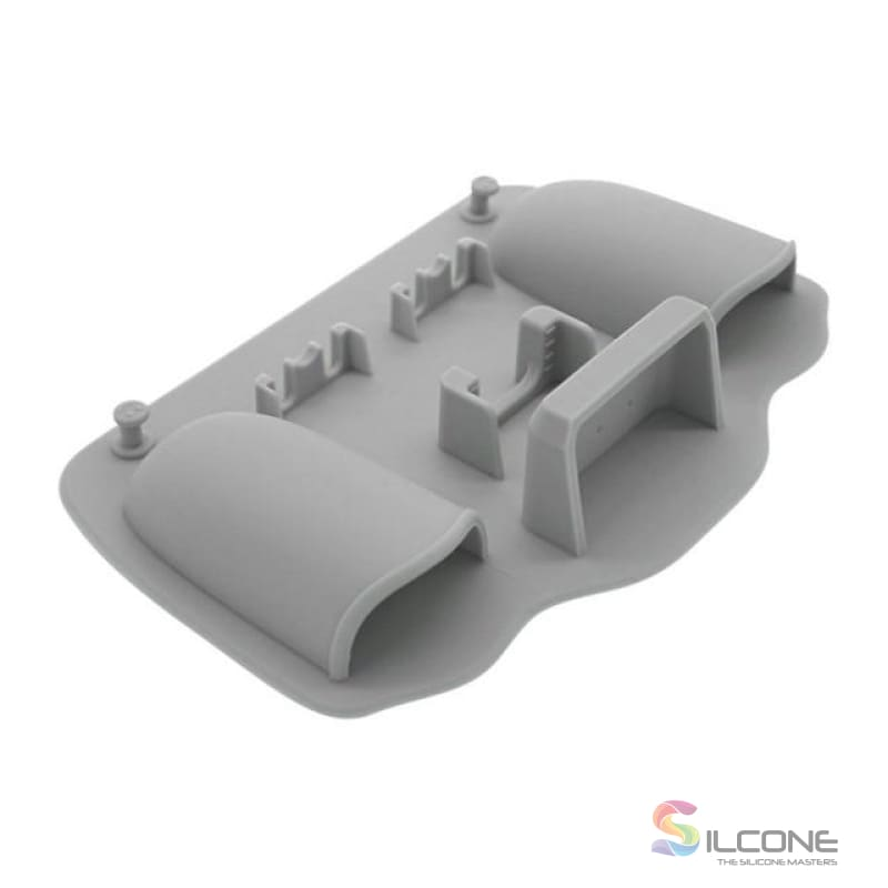 2-Hole Silicone Toothbrush Holder Gris